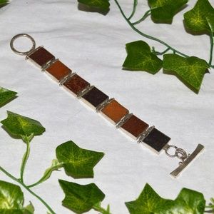 Chunky Square Earth Tone Bracelet